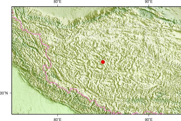 5月27日1时42分西藏阿里地区改则县发生3.3级地震