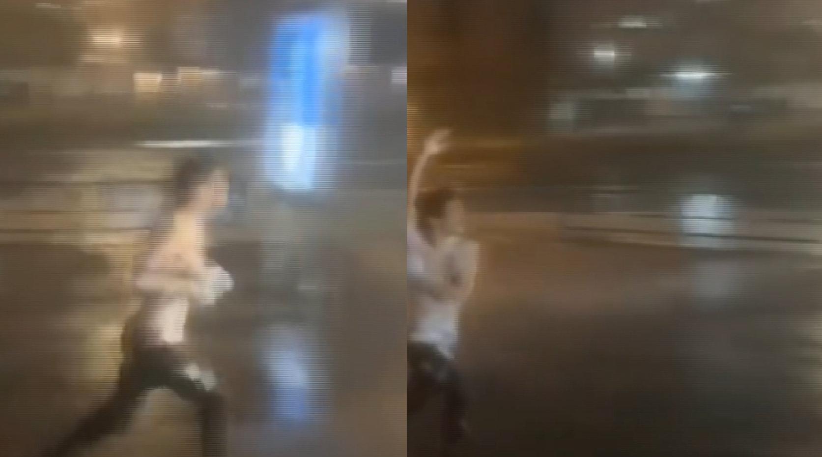 最欢乐的仔!强台风海贝思登陆日本,奇葩男暴雨中奔跑搓澡