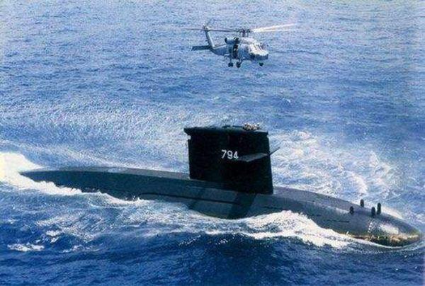 """资料图片:台军""""海虎""""号潜艇。(图片来源于网络)"""