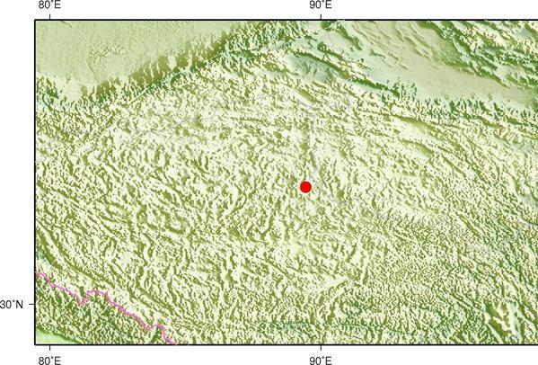 5月24日21时55分西藏那曲市双湖县发生3.6级地震