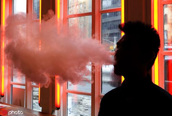 """电子烟撑持者以为电子烟比可燃烟""""安康"""" @IC Photo"""