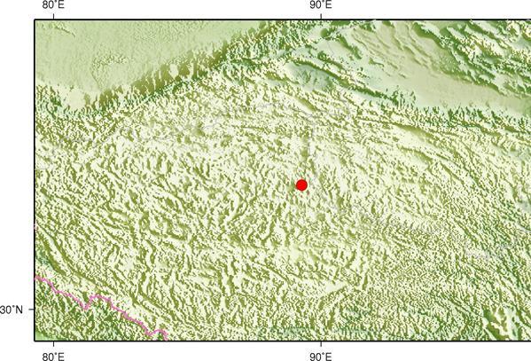 5月16日1时47分西藏那曲市双湖县发生3.4级地震