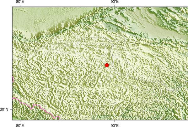 5月17日21时36分西藏那曲市双湖县发生4.2级地震