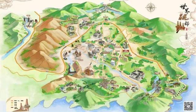 """来了!""""世界矾都""""手绘地图新鲜出炉 矾山旅游超详细!"""