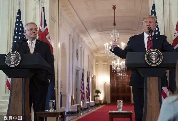 ▲当地时间9月20日,川普与莫里森在白宫举行联合新闻发布会。