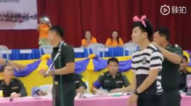 泰国服兵役是每个人都需要抽签的,如果没抽到那自然是很开心的啦