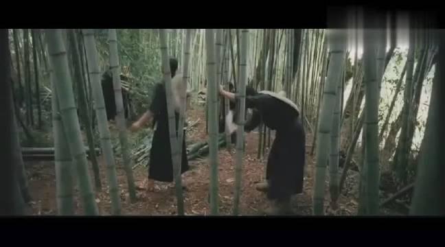 《武侠》金城武从甄子丹砍竹子看出他会武功,话说金城武真帅