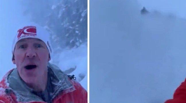 加拿大一男子湖边跑步遇雪崩 自拍记录逃跑过程