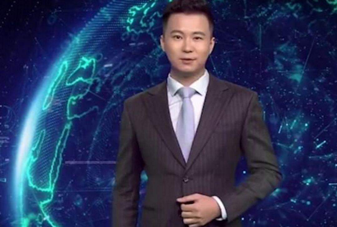 ▲人工智能合成的虚拟主播:新小浩 (图via网络)