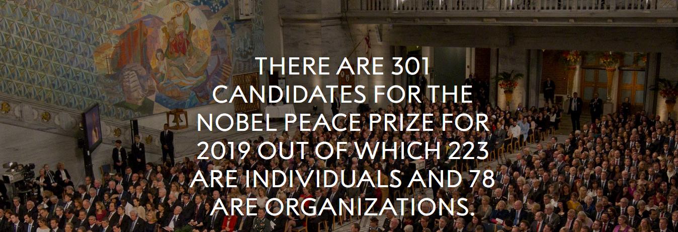 诺贝尔和平奖官方网站提名统计截图