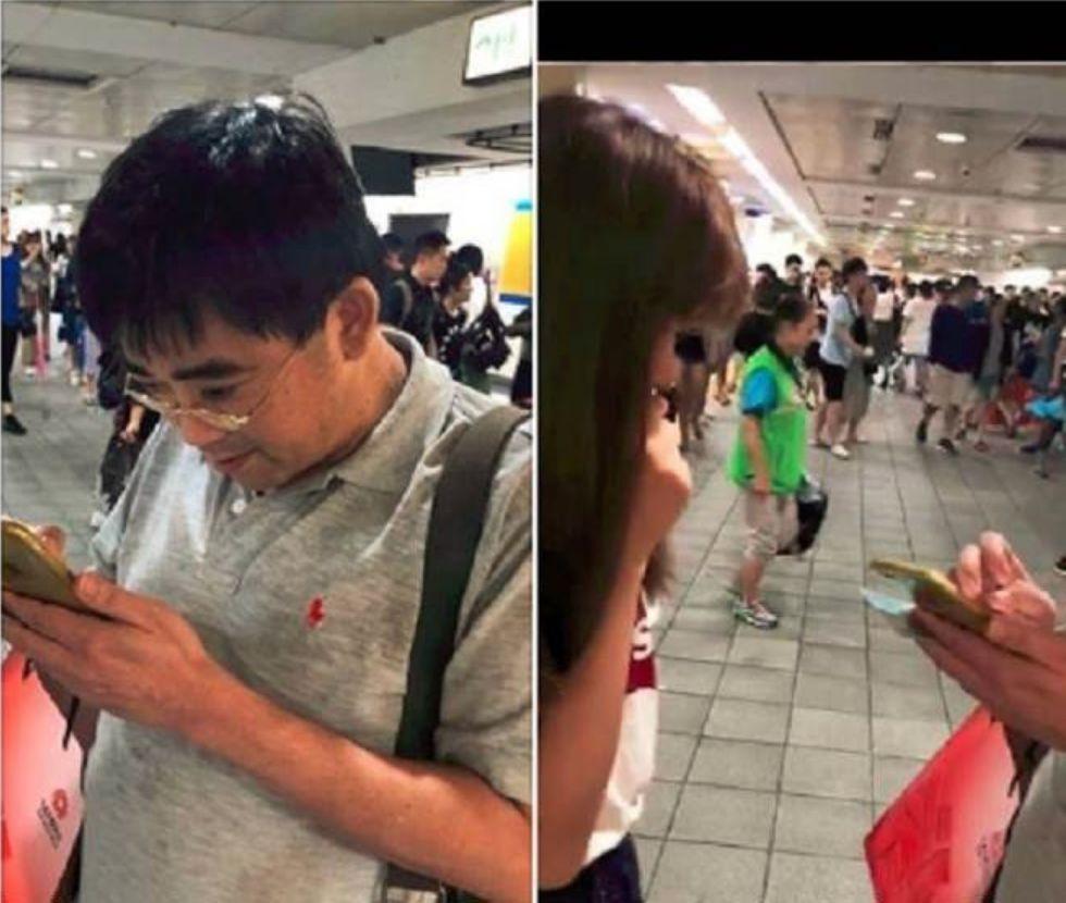 左图:邱俊荣 右图:被盗拍女子