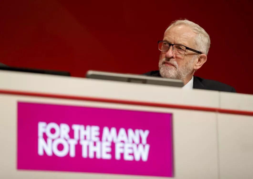 ▲9月21日,在英国布莱顿,工党领袖科尔宾出席工党年度大会。(新华社)