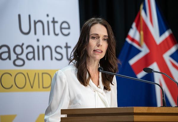 4月20日,新西兰总理阿德恩在首都惠灵顿就新冠疫情防控召开的新闻发布会上讲话。 新华社 资料图