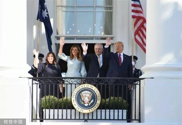 ▲当地时间9月20日,美国总统川普在白宫南草坪为澳大利亚总理莫里森举行欢迎仪式。
