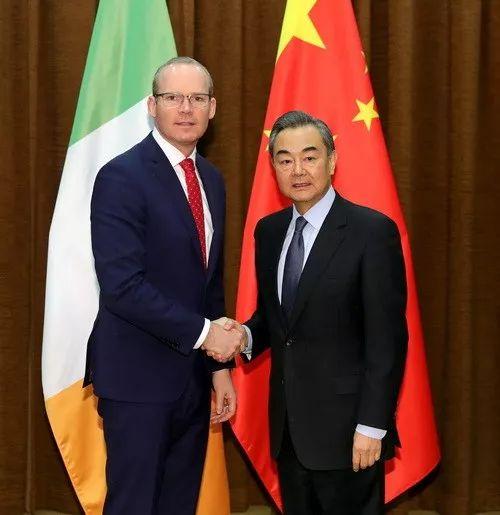 ▲2018年3月15日,外交部长王毅在北京会见爱尔兰副总理兼外交贸易部长科文尼。(外交部官网)