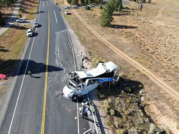 变乱现场。图片滥觞于好国犹他州下速公路巡警