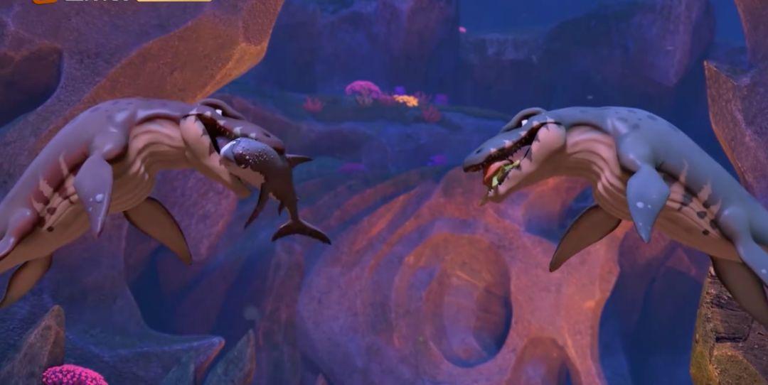 白垩纪时代的海中霸主长啥样?猪猪侠带你近距离观察沧龙