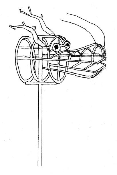 插,织,嵌,镶,缠,绕,挂等十技巧手工多种,用稻草一根一根地编织完成.视频折教程猫头鹰的图片