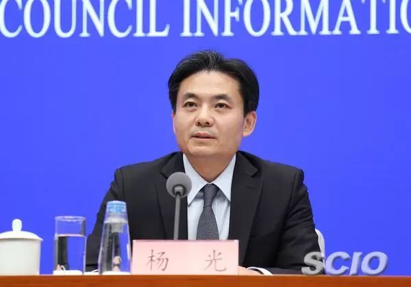 国务院港澳事件办公室消息讲话人杨光(张馨 摄)