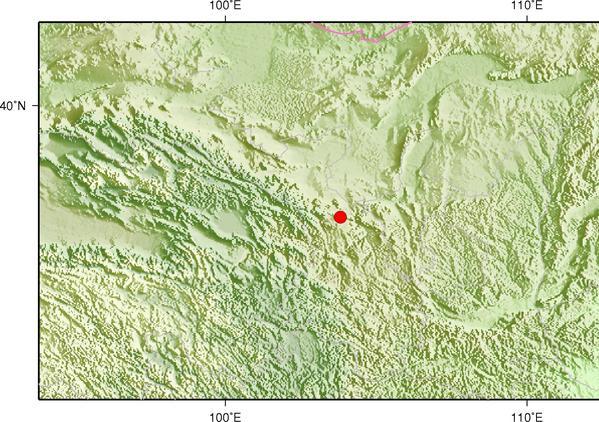 5月26日14时52分甘肃白银市景泰县发生3.4级地震