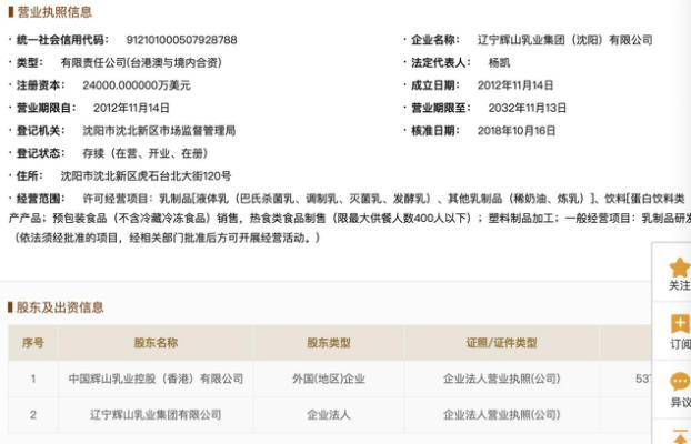 辉山乳业上海公司被申请破产重整 债务危机中已迎重组方