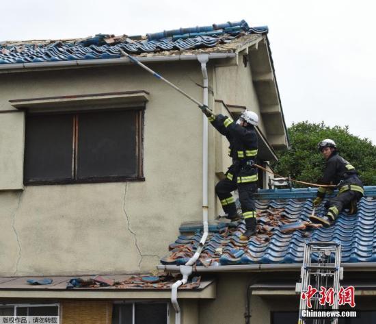 6月18日,日本大阪府發生6.1級地震,部分建築物受損嚴重。