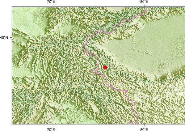 6月6日22时50分新疆喀什地区塔什库尔干县发生3.8级地震