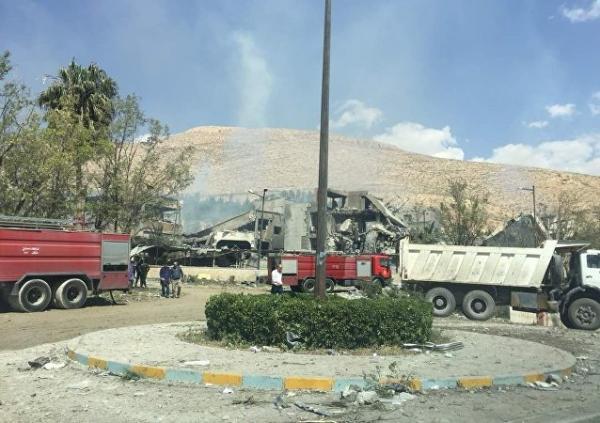 美英法空袭叙利亚现场曝光:叙遭袭研究中心已成废墟pc镜