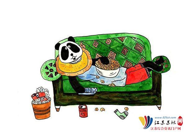 小学生手绘熊猫漫画爆笑v漫画四川方言的漫画明朝关于图片