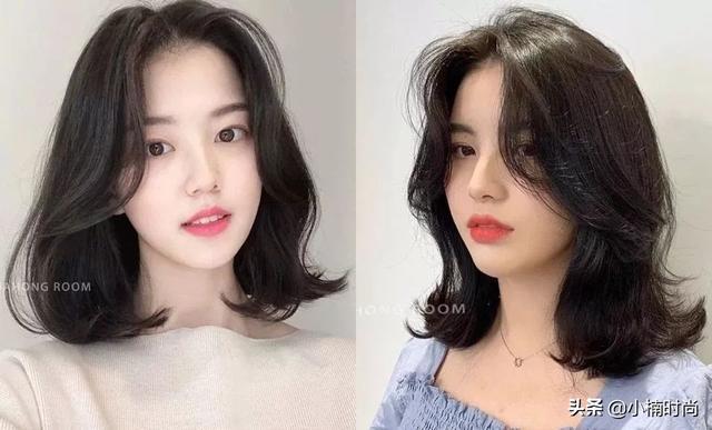 2019韩国5款大势秋冬中长卷发范本!显瘦遮肉又小脸发型图片