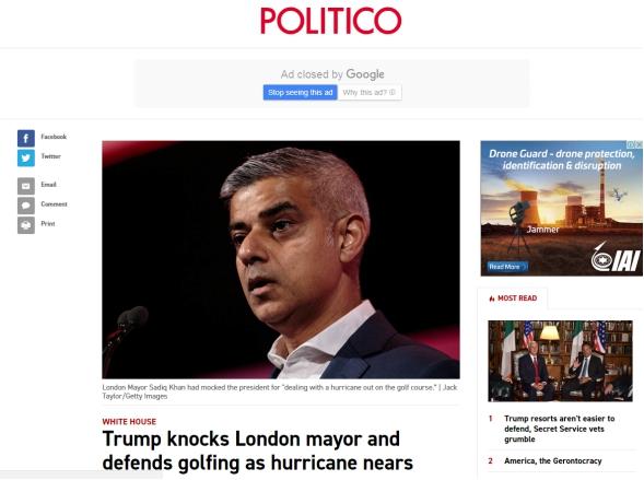 "(""Politico""报导截图)"