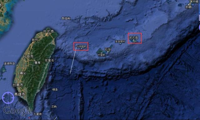 与那国岛和宫古岛的位置