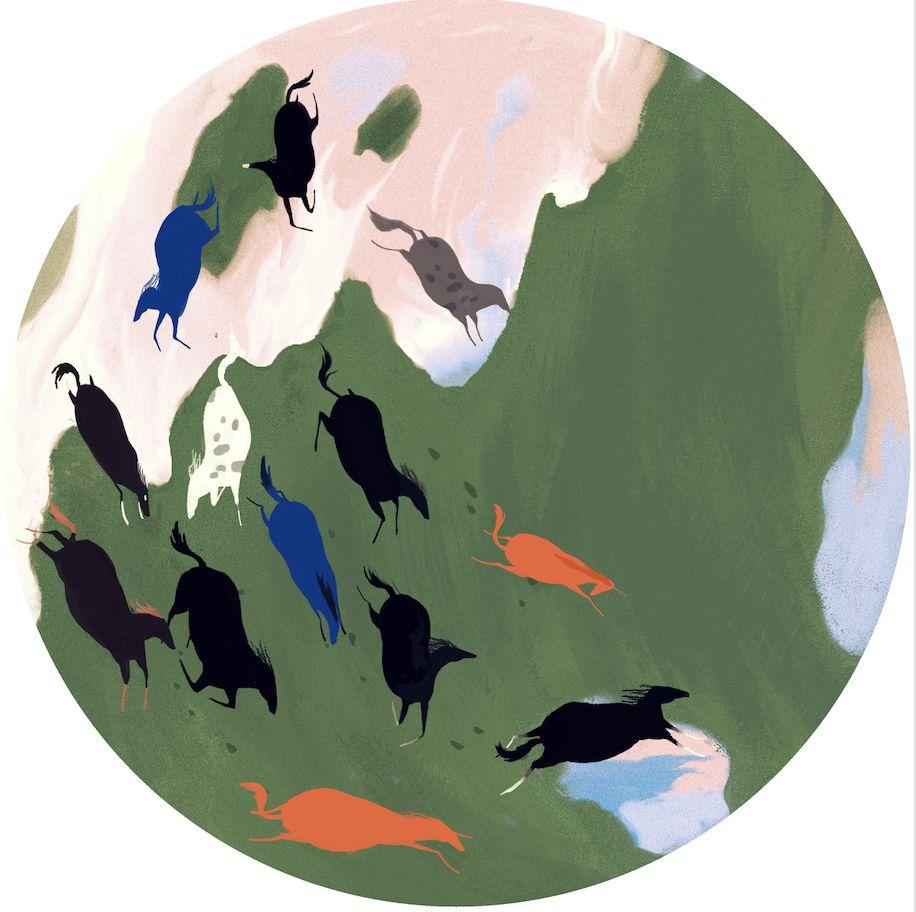 北欧风格ps手绘板商业插画,最潮流最流行的板绘技法