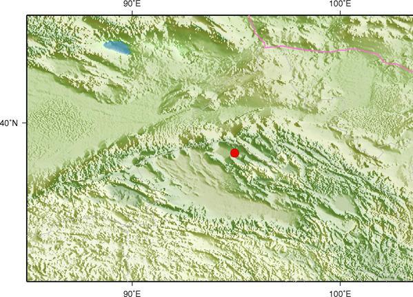6月17日11时12分甘肃酒泉市阿克塞县发生4.5级地震