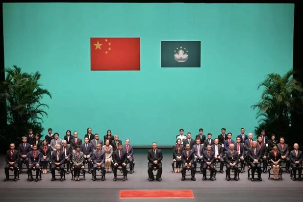 傅自应、张荣顺、姚坚、薛晓峰、罗永纲出席澳门特区2019年度勋章、奖章和奖状颁授典礼