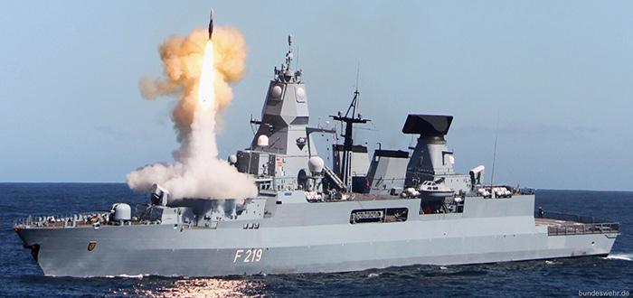 萨克森级F124型防空护卫舰F219舰(seaforces.org网站图)