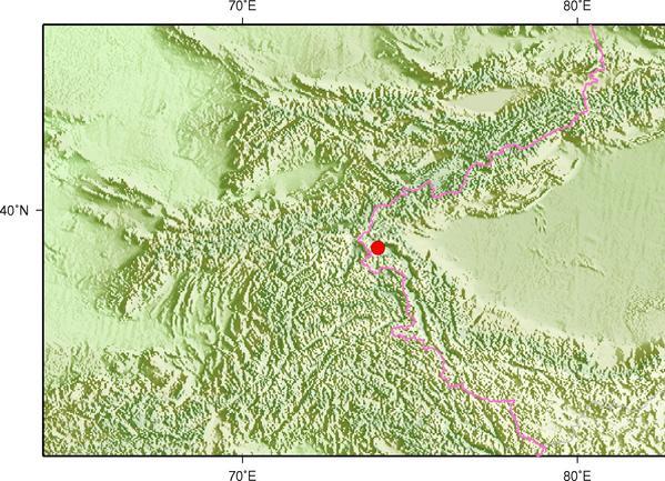 8月9日4时19分新疆克孜勒苏州阿克陶县发生3.6级地震