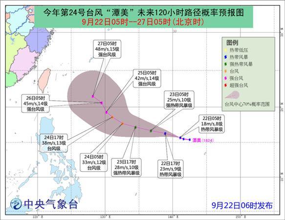"""今年第24号台风""""潭美""""生成 未来三天对我国近海无影响"""