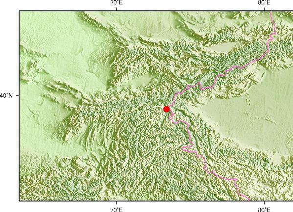 5月6日11时17分塔吉克斯坦发生4.6级地震