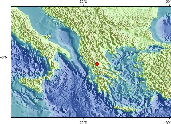 8月31日15时12分希腊发生5.0级地震