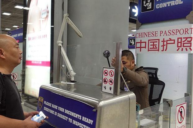 索万那普国际机场中国游客通道 图自泰国旅游警察局脸书