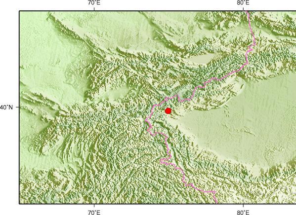3月31日8时9分新疆克孜勒苏州乌恰县发生3.0级地震