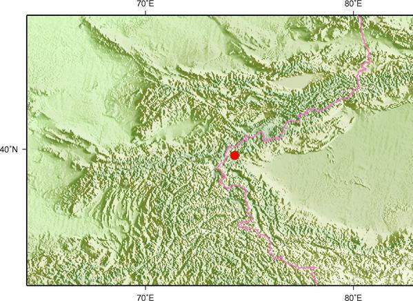 4月3日16时14分新疆克孜勒苏州乌恰县发生4.9级地震