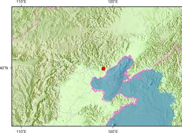 8月9日4时22分河北秦皇岛市卢龙县发生2.8级地震