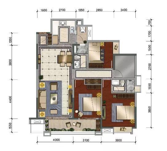 房子套间设计图