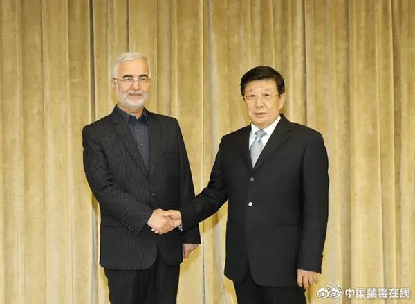 赵克志会见伊朗禁毒总部秘书:深化禁毒务实合作图片