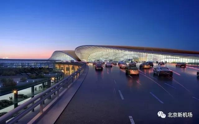 图:北京大兴国际机场新机场出发层,来源:北京新机场微信公众号