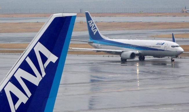 图为全日空客机资料图。(来源:联合新闻网)