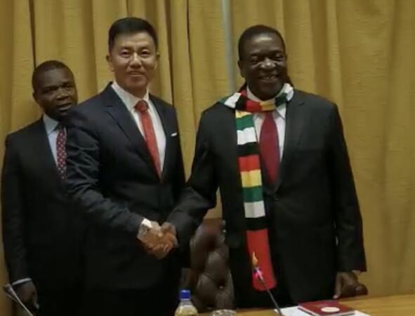 津巴布韦总统埃默森·姆南加古瓦会见立国集团董事局主席寇立国等中国企业家