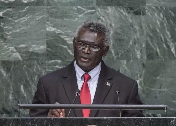 所罗门群岛总理梅纳西⋅索加瓦雷(资料图)